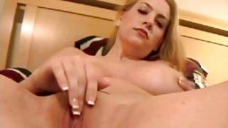 Home made video with blonde cunt with huge tits show everything she has got