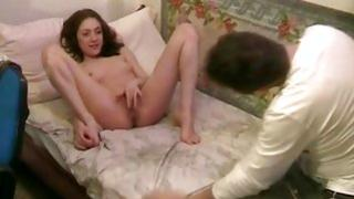 Pretty damsel is screaming loud while dude is sucking her cute cunt
