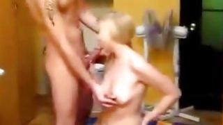 Blonde babe can't even moaning of orgasm from pink dick into her pussy