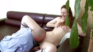 Old dude is slamming this naked whore from behind