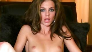 Small tittied yummy perv girlie is showing her widened genitals
