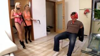 Hot and powerful threesome sex tube will bring you a lot of erection