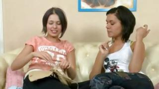Ill-mannered cracked call girl is outing finger inside the petite chick mouth