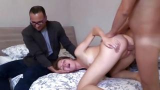 Darling brunette suggesting getting her anal hole pushed cruel inside