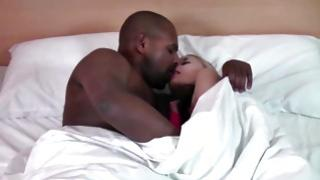 Ebony pal is making this cutie screaming during the doggy pounding