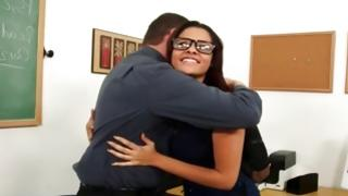 Naughty guy is sexually nice hugging a bitch