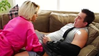 Blonde vicious chick wishes fuck horrible man